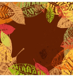 Autumn leaves frame vector