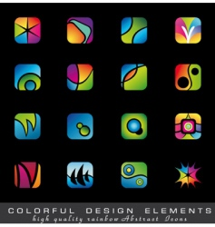 colorful collection of design elements vector image vector image