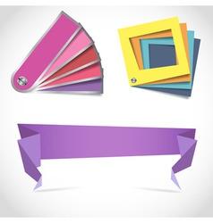 Creative design color scheme palettes vector image vector image