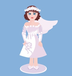 Figurine of bride vector