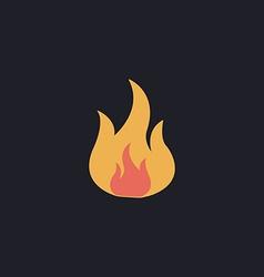 Fire computer symbol vector