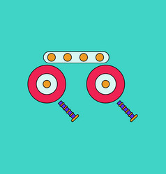 Flat icon design collection kids metal constructor vector