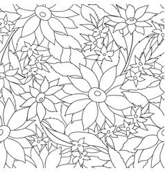 floral seamless stylish pattern spring flower vector image