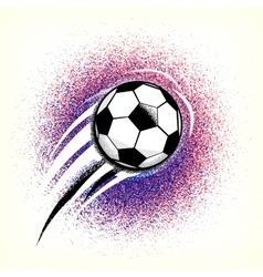 Football championship background with ball and vector image