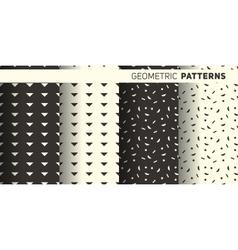 Geometric monochrome patterns vector image