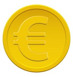 Gold euro coin vector image vector image