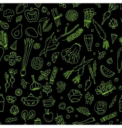 Green vegetables detox seamless pattern design vector