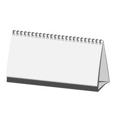 Grey blank calendar isolated on white vector image