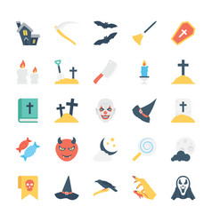 halloween colored icons 1 vector image vector image