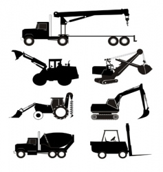 industry vehicle silhouette vector image vector image