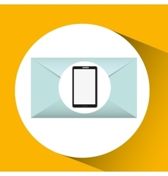 Mobile cellphone email envelope icon vector