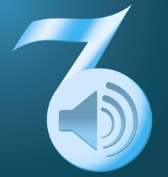 note the speaker on a blue background vector image