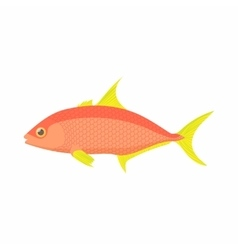 Orange fish icon cartoon style vector image vector image