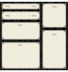 parchment frame set vector image vector image