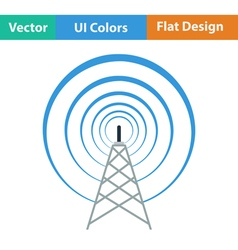 Radio antenna icon vector image