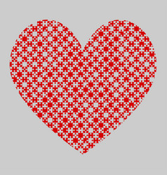 Red puzzle heart pieces - jigsaw - field chess vector
