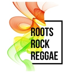 Reggae color wave poster design vector