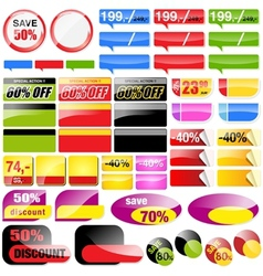 Retail Sales Elements vector image