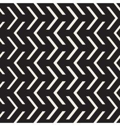 Seamless Black And White Arrow Shape vector image