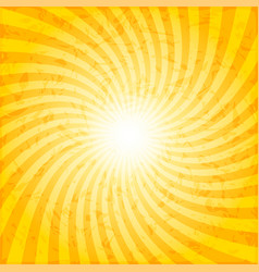 textured spiral sunray background vector image vector image