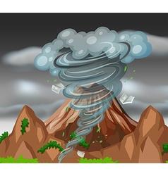 Tornado over the mountains vector image