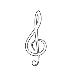 Treble clef the black color icon vector