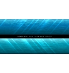 Underwater seamless background vector