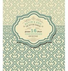 Vintage wedding card vector image vector image