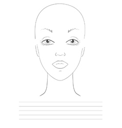 visage sketch vector image vector image
