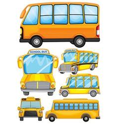 Different design of school bus vector image