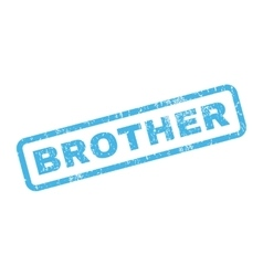 Brother rubber stamp vector