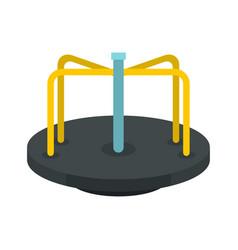 Merry go round icon flat style vector