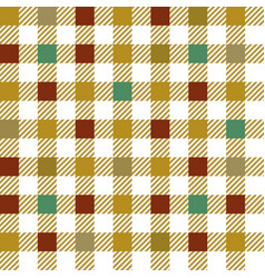 Yellow gingham mix seamless pattern vector