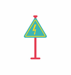 Danger high voltage road sign vector