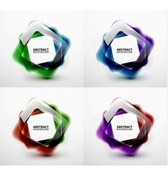 Glossy and blurred square banners templates vector image