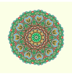 Oriental colorful traditional ornament vector