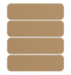 Tag recycled paper craft stick on white background vector