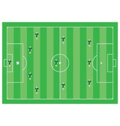 4-3-3 soccer scheme vector image