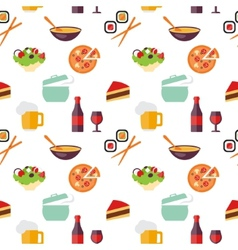 Seamless restaurant pattern vector
