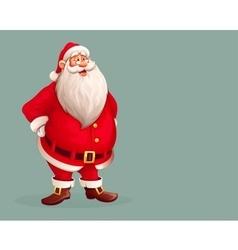 Smiling santa claus standing vector