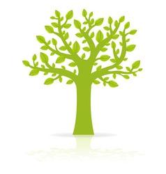 green eco tree vector image