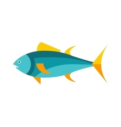 Ocean animal design of tuna fish cartoon animals vector