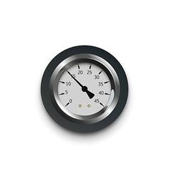 A pressure meter gauge vector