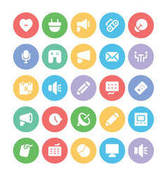 Communication icons b vector