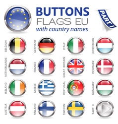 Buttons with eu flags vector