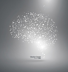 Abstract brain graphic particles constituting vector