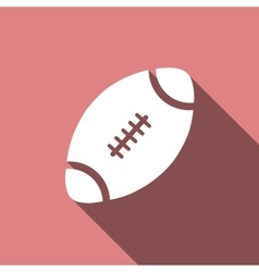 American Football ball icon with long shadow vector image vector image