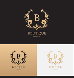 boutique brand logo template vector image