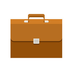 briefcase flat icon vector image