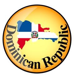 button The Dominican Republic vector image vector image